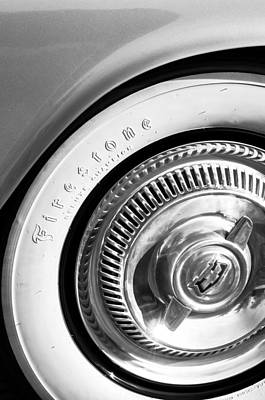 1954 Chevrolet Corvette Wheel Emblem -290bw Poster by Jill Reger