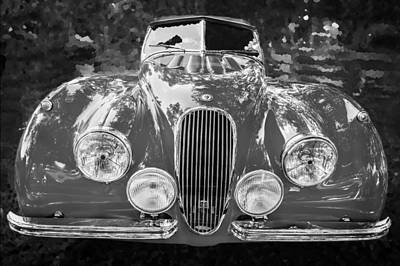 1954 Jaguar Xk 120 Se Ots Bw Poster by Rich Franco