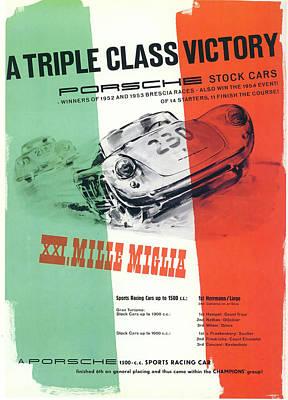 1954 Xxi Mille Miglia Poster by Georgia Fowler