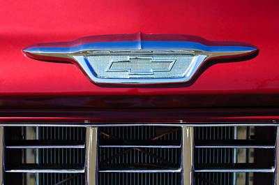 1955 Chevrolet Pickup Truck Grille Emblem Poster by Jill Reger