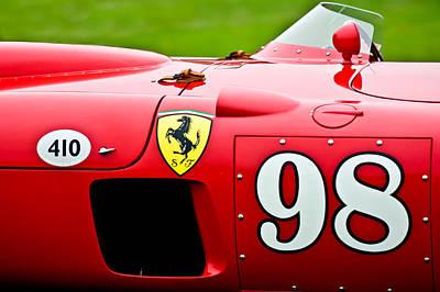 1956 Ferrari 410 Sport Scaglietti Spyder Poster by Jill Reger