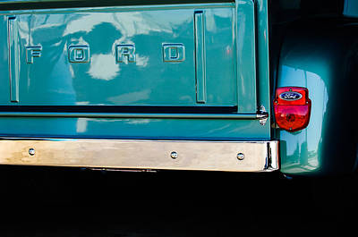 1956 Ford F-100 Truck Taillight 2 Poster by Jill Reger