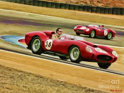 1957 Ferrari 250 Testa Rossa  Poster by Blake Richards