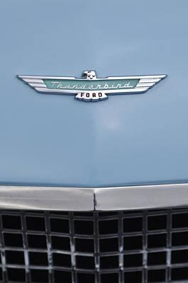 1957 Ford Thunderbird Hood Ornament 2 Poster by Jill Reger