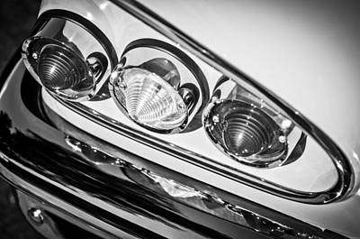 1958 Chevrolet Impala Taillight -0289bw Poster by Jill Reger