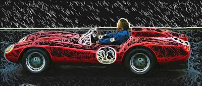 1958 Ferrari 250 Testa Rossa Poster by John Colley