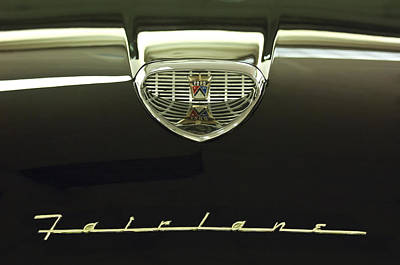 1958 Ford Fairlane 500 Victoria Hood Ornament Poster by Jill Reger