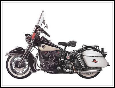 1958 Harley-davidson Flh Duo-glide Poster by Maciej Froncisz