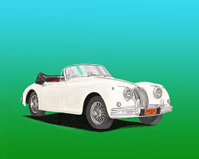 1958 Jaguar X K 150 S Cabriolet Poster by Jack Pumphrey