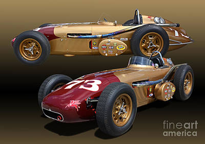 1958 Watson Mc Namara Spl Indy Roadster  Poster by Tad Gage