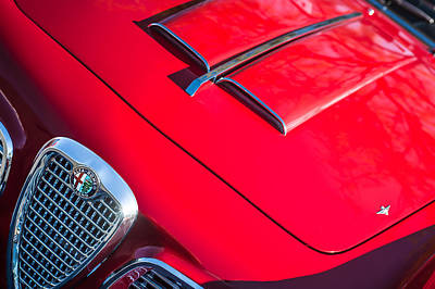 1959 Alfa Romeo 2000 Spider Grille Emblem Poster by Jill Reger
