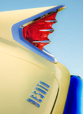 1960 Desoto Fireflite Two-door Hardtop Taillight Emblem Poster by Jill Reger