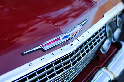 1962 Chevrolet Impala Ss Grille Poster by Jill Reger
