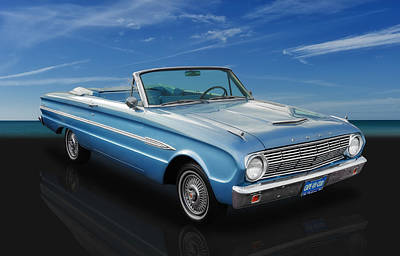 1963 Ford Falcon Futura Convertible Poster by Frank J Benz