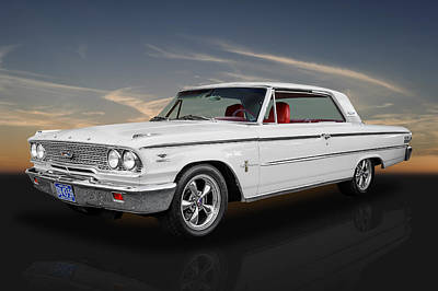 1963 Ford Galaxie 500 - 5.0 Cammer Poster by Frank J Benz