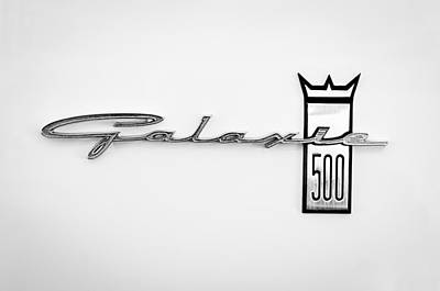 1963 Ford Galaxie 500 R-code Factory Lightweight Emblem Poster by Jill Reger