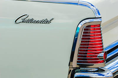 1963 Lincoln Continental Taillight Emblem -0905bw Poster by Jill Reger