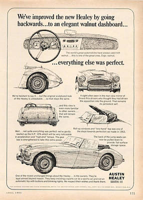 1964 Austin Healey Poster by Georgia Fowler