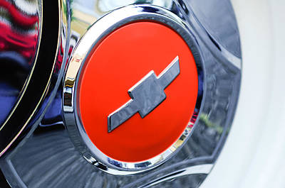 1964 Chevrolet Pickup Truck K 10 Wheel Emblem Poster by Jill Reger