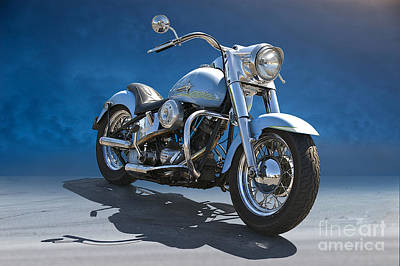 1964 Harley-davidson Flhp Duo-glide  Poster by Dave Koontz