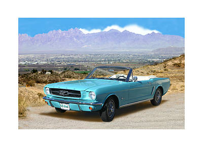 1964 Mustang Convertible Poster by Jack Pumphrey