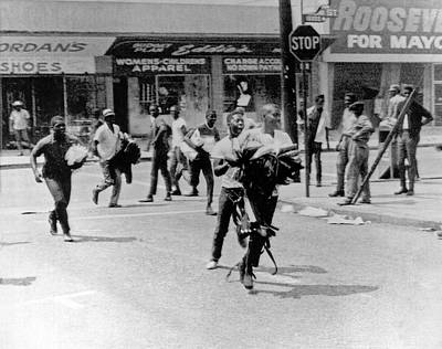 1965 Watts Riot Looting Poster by Underwood Archives