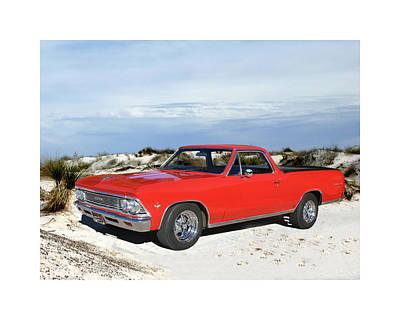 1966 Chevrolet El Camino 327 Poster by Jack Pumphrey