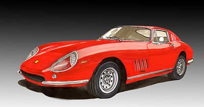 1966 Ferrari 275 G T B 4 Poster by Jack Pumphrey