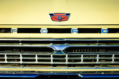 1966 Ford Pickup Truck Grille Emblem Poster by Jill Reger