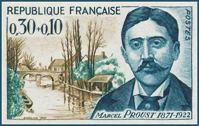 1966 Marcel Proust 1871-1922 Poster by Lanjee Chee
