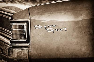 1967 Chevrolet Chevelle Ss Super Sport Taillight Emblem Poster by Jill Reger