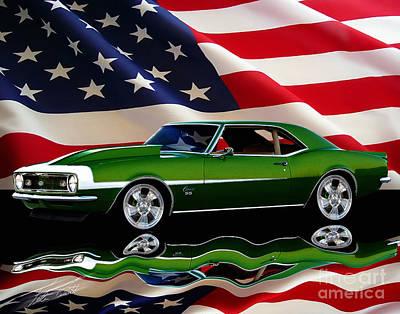 1968 Camaro Tribute Poster by Peter Piatt