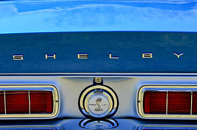 1968 Ford Shelby Gt500 Kr Convertible Rear Emblems Poster by Jill Reger