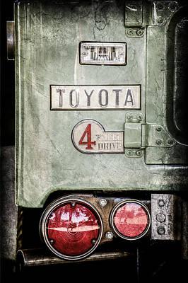 1969 Toyota Fj-40 Land Cruiser Taillight Emblem -0417ac Poster by Jill Reger