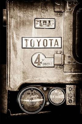 1969 Toyota Fj-40 Land Cruiser Taillight Emblem -0417s Poster by Jill Reger
