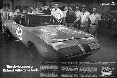 1970 Plymouth Superbird - The Obvious Reason Richard Petty Came Back Poster by Digital Repro Depot