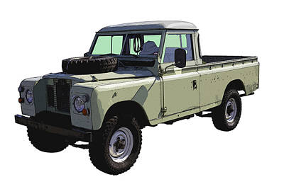 1971 Land Rover Pickup Truck Poster by Keith Webber Jr