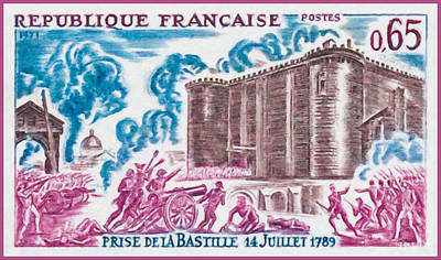 1971 Taking The Bastille 14 July 1789 Poster by Lanjee Chee