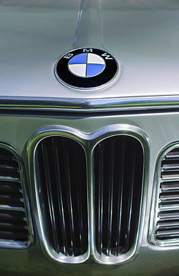 1972 Bmw 2000 Tii Touring Grille Emblem Poster by Jill Reger