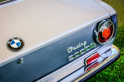 1972 Bmw 2000 Touring Tii Taillight Emblem -0159c Poster by Jill Reger