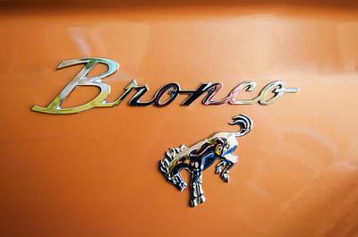 1973 Ford Bronco Ranger Emblem Poster by Jill Reger