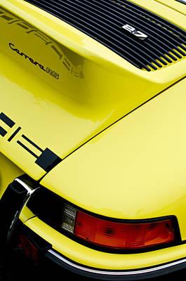 1973 Porsche 911 Carrera Rs Taillight Poster by Jill Reger