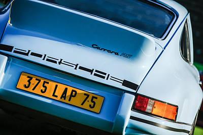 1973 Porsche 911 Rs Rsr Taillight Emblem Poster by Jill Reger
