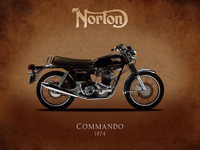 1974 Norton Commando Poster by Mark Rogan
