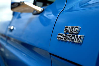 1977 Ford F 150 Custom Name Plate Poster by Brian Harig