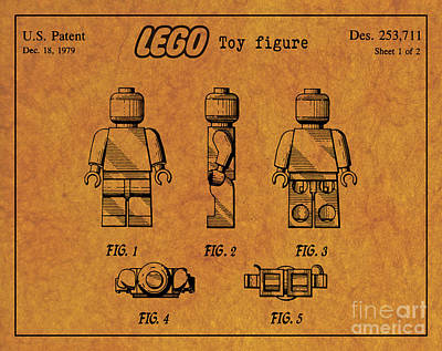 1979 Lego Minifigure Toy Patent Art 4 Poster by Nishanth Gopinathan