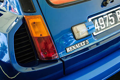 1980 Renault Series 1 R5 Turbo Taillight Emblem -0082c Poster by Jill Reger