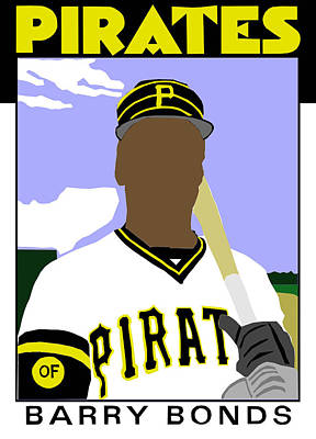 1986 Barry Bonds Poster by Michael Levine