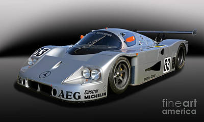 1989 Sauber Mercedes C9 Poster by Tad Gage