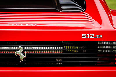 1993 Ferrari 512 Tr Taillight Emblem -0352c Poster by Jill Reger